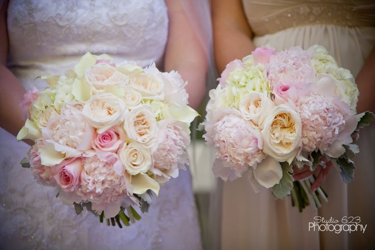 Wedding Flowers Portland Oregon Romantic Lush Bouquet Blush Pink