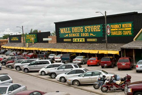 wall drug, south dakota - great for shopping and people watching (and the best burger I've EVER had).