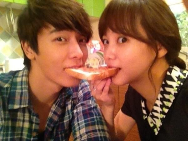 Donghae and Yoon Seung Ah share a 'toast kiss' on the set of 'Miss Panda and Mr. Hedgehog'?