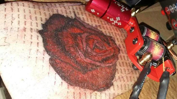 1st go on tattoo gun