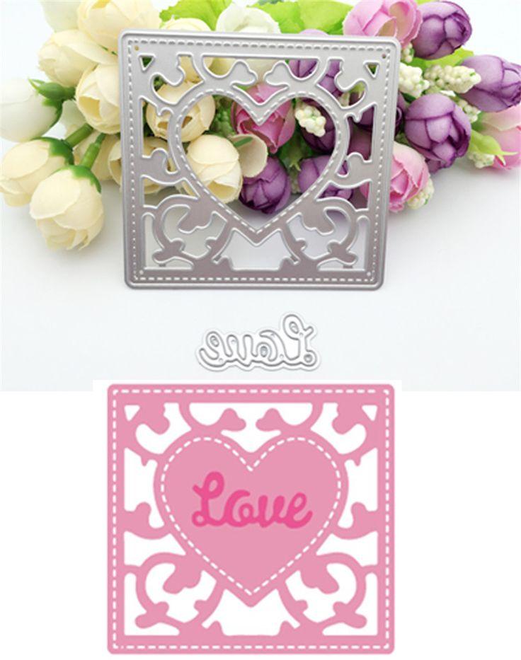 "New arrival ""loving heart"" design scrapbooking dies metal for DIY photo album Decorative Embossing paper Cards ZJ-027"