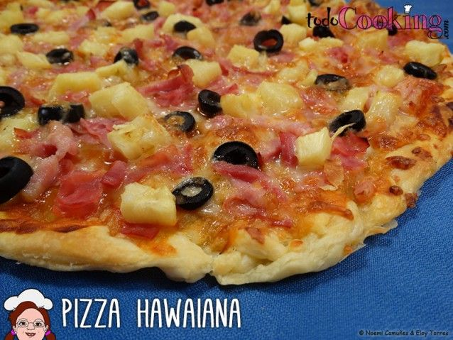 Pizza hawaiana de hojaldre
