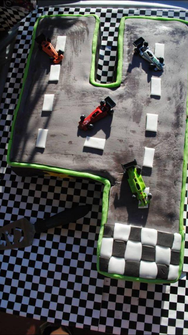 Pastel de pista de carreras