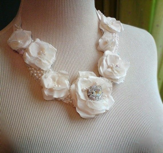 Reserved for Kristen DIedrichsen   wedding necklace by florabond, $125.00