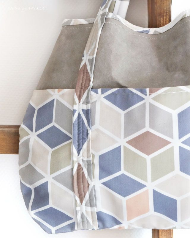 Genäht: SnapPap Tasche | selbernähen | DIY | crafts & sewing | gifts idea | geometric pattern & SnapPap |