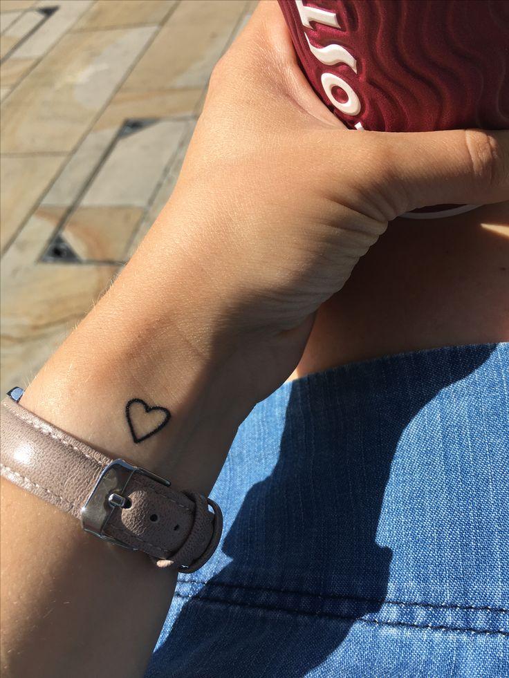 Heart tattoo on wrist