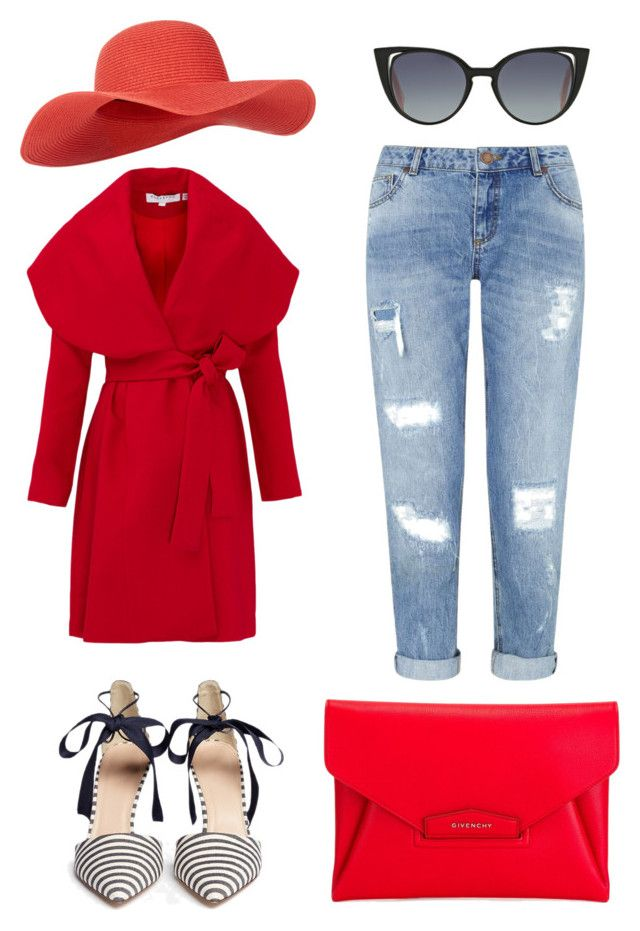 """RED"" by citrarizkiamalia on Polyvore featuring Keepsake the Label, J.Crew, Miss Selfridge, Givenchy, Fendi and Accessorize"
