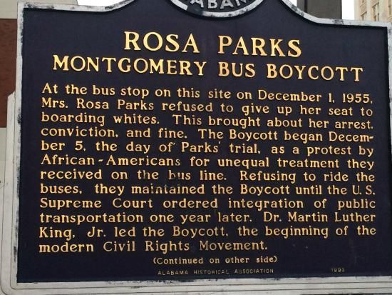Rosa Parks Bus Boycott - Picture of Rosa Parks Library and Museum ...