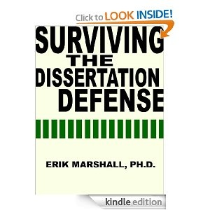 the perfect defense the oral defense of a dissertation