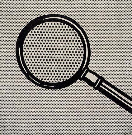 Magnifying Glass by Roy Lichtenstein, 1963 via wikipaintings  #Painting #Roy_Lichtenstein