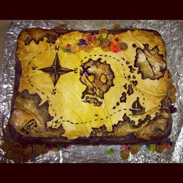 Pirate Map, by Gypsy Queen Cakes