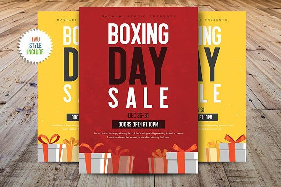 Boxing Day Sale Flyer  Cyber Monday Sale Flyer Template