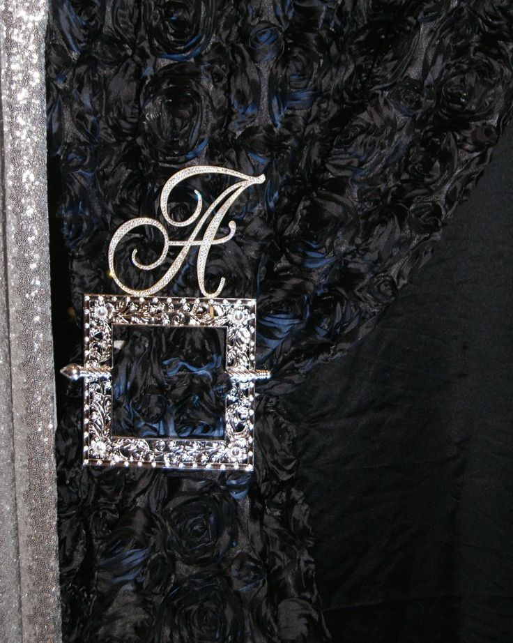 """6"""" Love Letter with Swarovski crystals as decor behind head table - gorgeous!"""