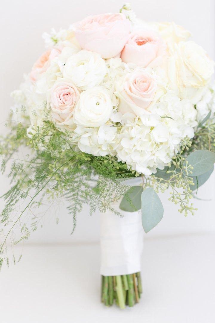 elegant white wedding bouquet; photo: Amalie Orrange Photography