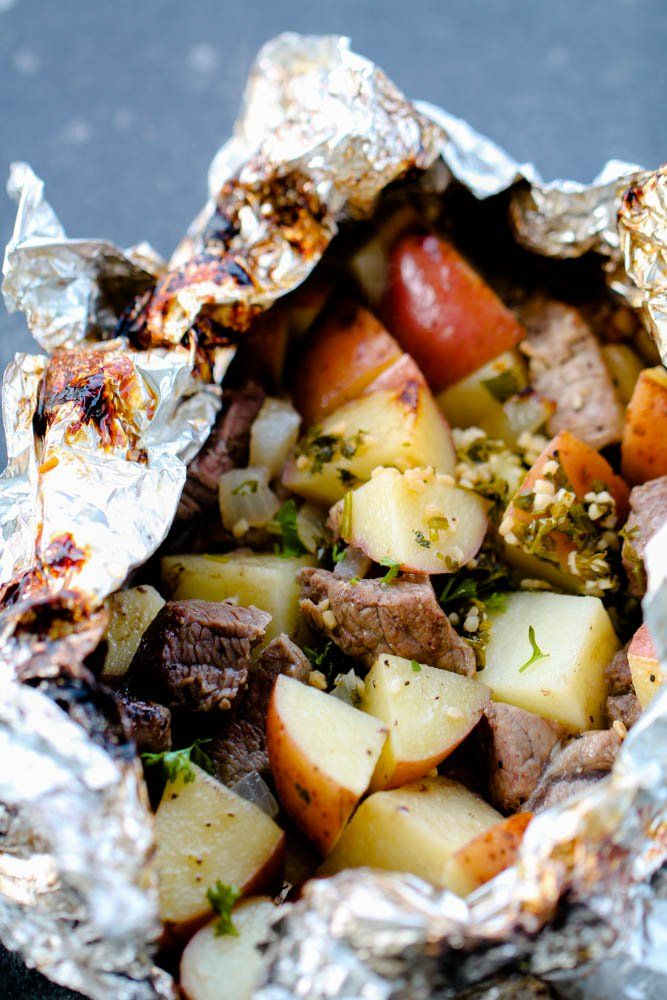 Steaks and potatoes with garlic butter butter dinners packages   – i love to eat