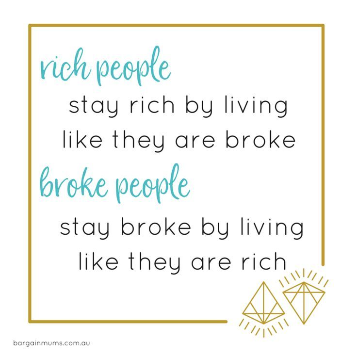 Rich people stay rich by living like they are broke. Broke people stay rich by…