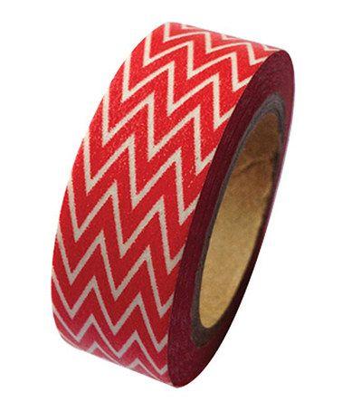 Red Zigzag Washi Tape by Koyal Wholesale #zulily #zulilyfinds