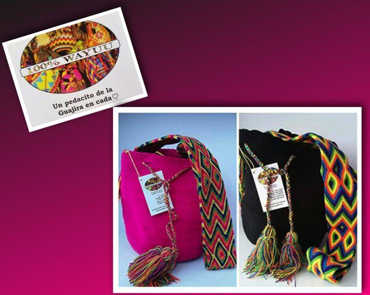 100%WAYUU, artesanía elaborada directamente por los indígenas Wayuu.  Diana Acevedo  Envios a nivel nacional. Tienda On line. Bogotá. Colombia. (301) 3124083. 100wayuu@gmail.com