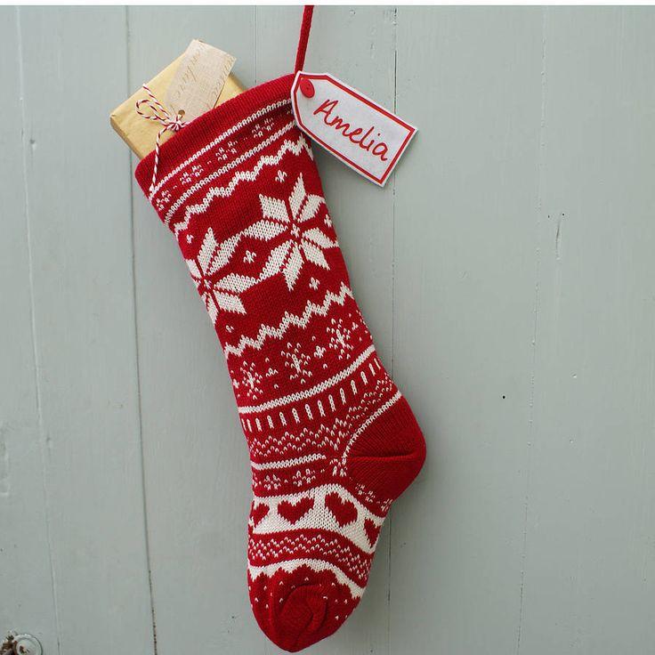 Knitting Christmas Stocking : Best christmas stockings images on pinterest
