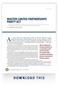 Master Limited Partnerships (yeah I am boring)