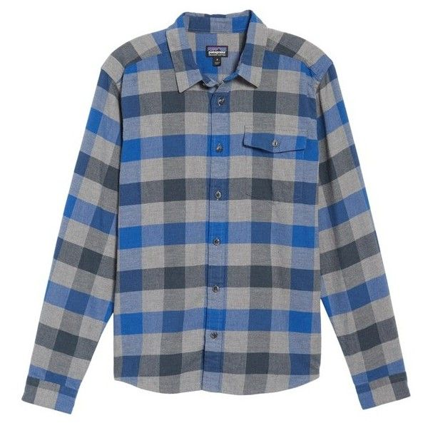 Men's Patagonia Regular Fit Organic Cotton Flannel Shirt ($79) ❤ liked on Polyvore featuring men's fashion, men's clothing, men's shirts, men's casual shirts, upriver viking blue, mens patterned shirts, mens blue flannel shirt, patagonia mens shirts, men's regular fit shirts and mens print shirts