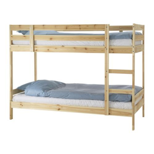 MYDAL Bunk bed frame IKEA The ladder can mount on the left or right side of the bed. (and it's cheap enough that you'd have money left over to paint or decorate it!)