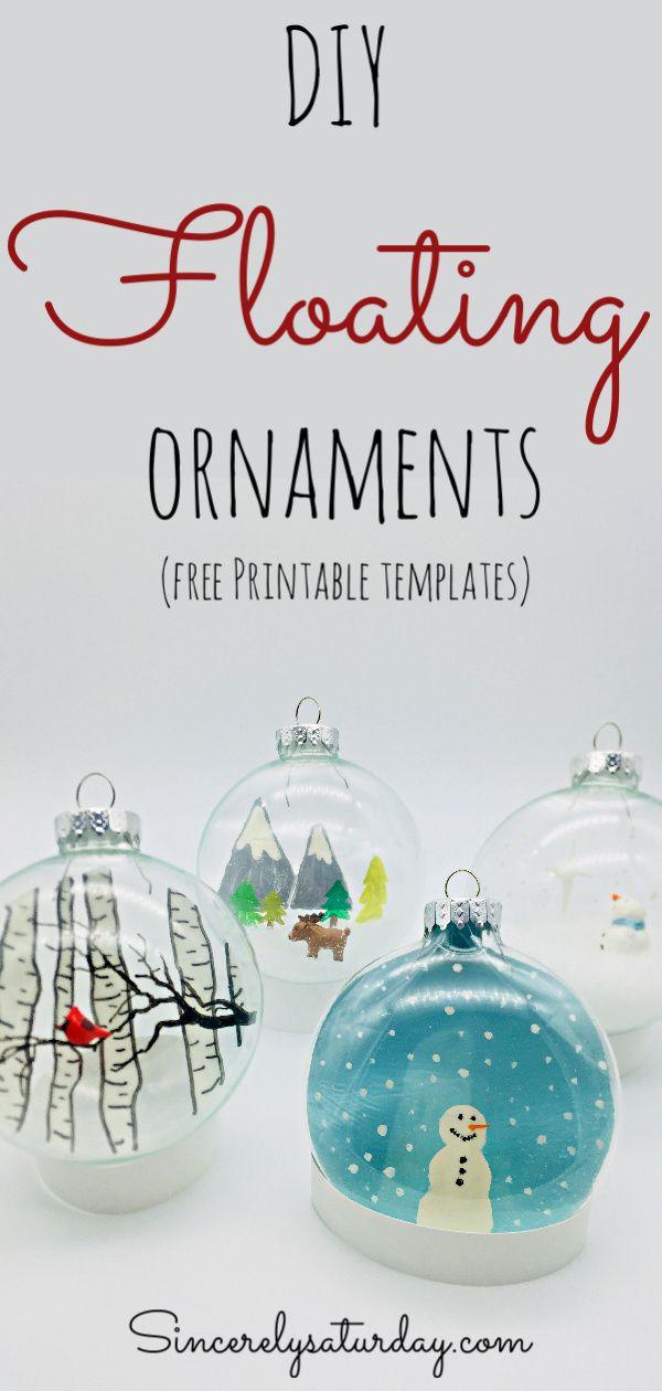 diy floating ornaments blog sincerely saturday pinterest