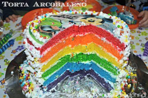 Torta ARCOBALENO Per il compleanno del mio piccoletto ho realizzato la famosa Torta Arcobaleno con i suoi colori brillanti. La ricetta e qualche dritta sulla preparazione.