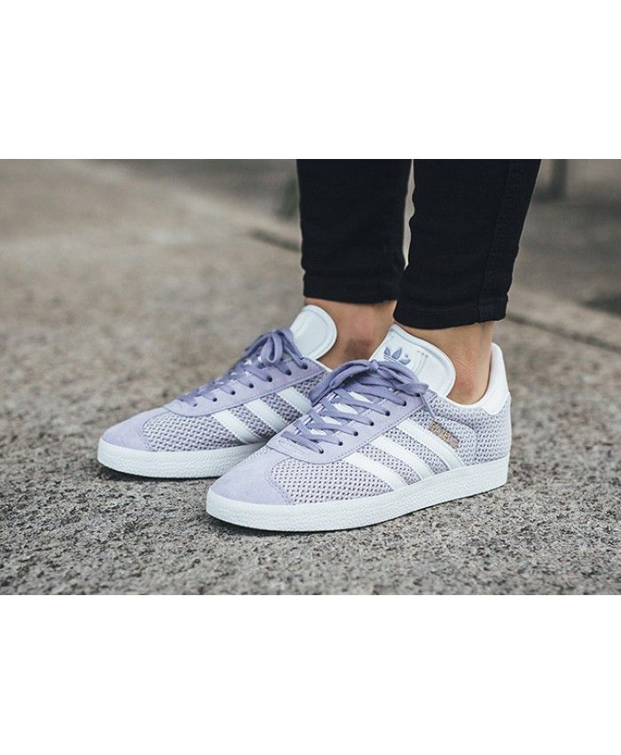 watch 2a1f4 d3e14 Adidas Gazelle W Mesh Light Purple And Off White Trainers Sale UK