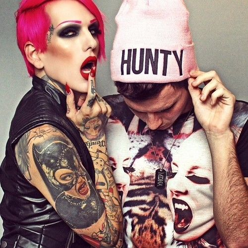 Jeffree Star Cosmetics. Beauty Forever clothing. Hunty beanie. Redrum lipstick.