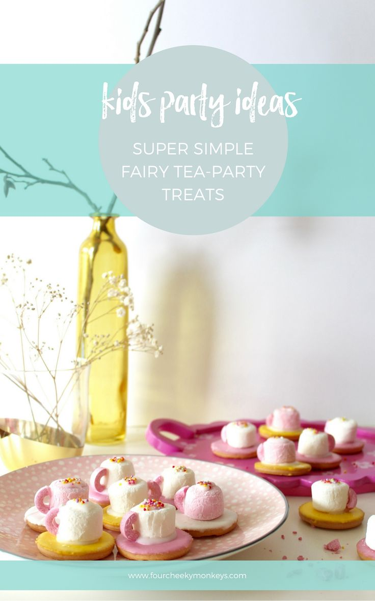 Super cute fairy tea-party marshmallow biscuits that even three year olds can help to make. Certainly not sugar free, but they sure do have the CUTE factor! Perfect food idea for a kids birthday party. More on the blog. via @4cheekymonkeys