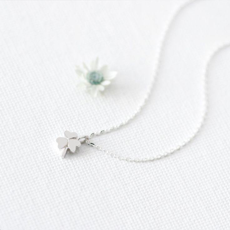 Three-leaf クローバー ネックレス シルバー925