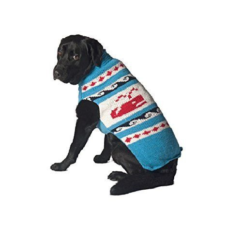 Chilly Dog Whales Sweater for Dogs, Large