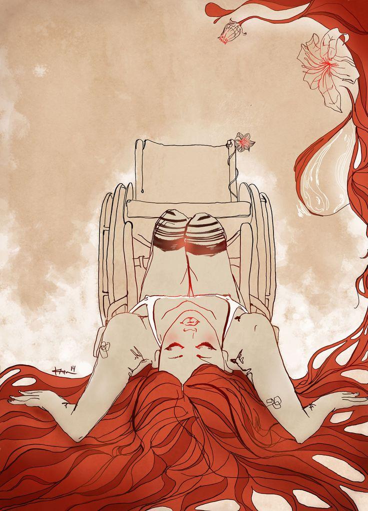 I Document The Progression Of My Rare Disease In Heartbreaking Illustrations | Illustration, Desenhos criativos, Desenhos de amor