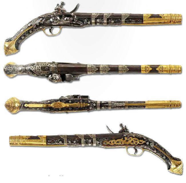 A flintlock pistol, the Ottoman Empire, Turkey, ca. 18th century.