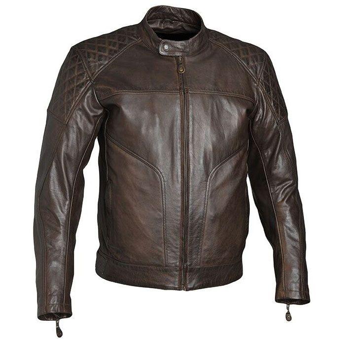 Blouson moto Guns Bristol marron, cuir vintage, biker homme