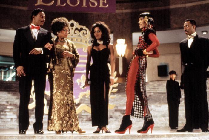 boomerang movie clothes | BOOMERANG, Eartha Kitt, Robin Givens, Grace Jones, Eddie Murphy, 1992 ...