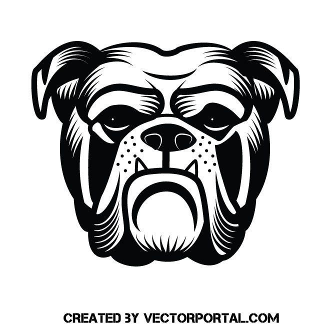 Bulldog Vector Clip Art Art Bulldog Bulldog Mascot