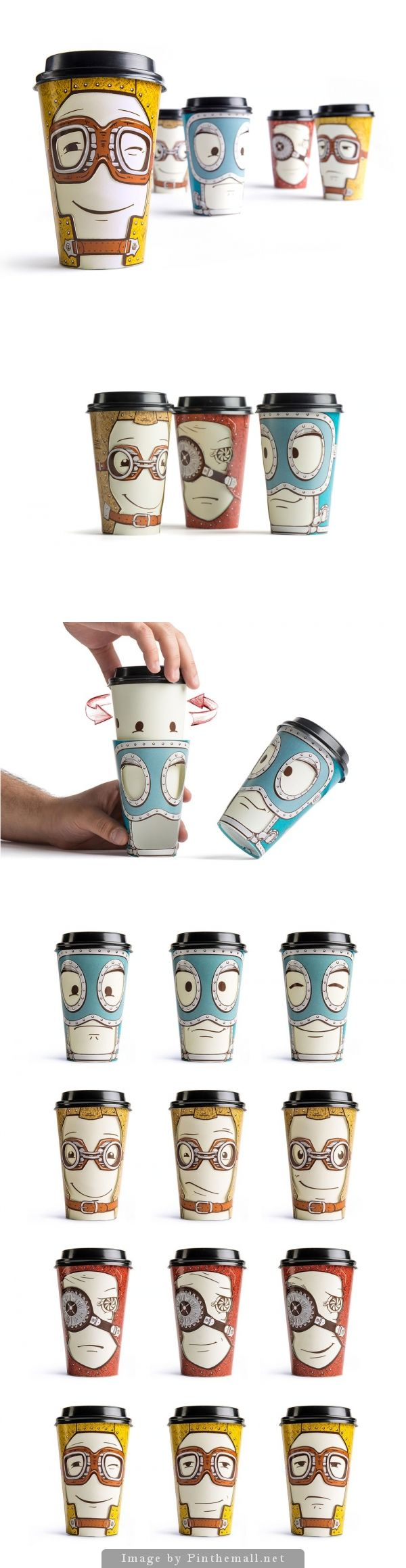 Super clever takeaway coffee cup design.