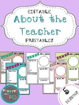 The 25 best meet the teacher template ideas on pinterest about the teacher editable meet the teacher templateschool pronofoot35fo Choice Image