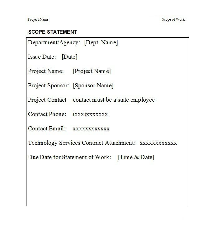 Best 3 Scope Of Work Template You Calendars Https Www Youcalendars Com Scope Of Work Template Ht Writing A Research Proposal Statement Of Work Templates