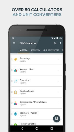 All-in-One Calculator v1.4.4 [Pro] Requirements: 4.2+ Overview: All-In-One Calculator is a lightweight, clean and easy to use calculator and converter pack.     Containing over 50 calculators and unit converters packed in with a scientific calculator, it's the only math app you...