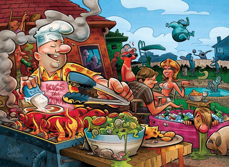 100 best bbq cartoons images on pinterest barbecue