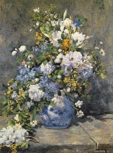 Bild: Pierre-Auguste Renoir - Große Vase mit Blumen