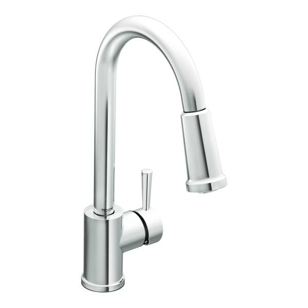 Laundry Room Faucet Level Chrome One Handle High Arc Pulldown Kitchen 7175