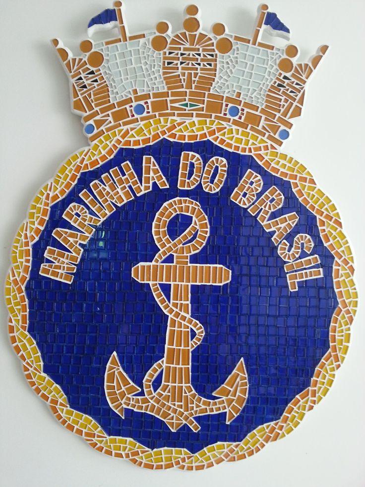Mosaico escudo marinha