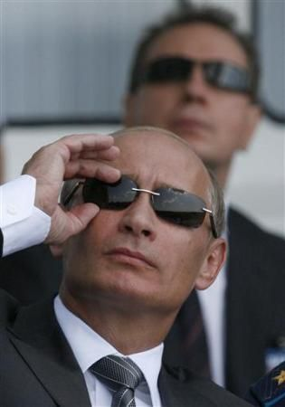 KGB glasses Putin. Russian president voted in by ballot fixing? 2000
