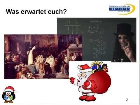 Lasst uns froh und munter sein! - YouTube: Ein besinnlicher Weihnachtsvortrag von Christian Spannagel an der Uni Würzburg, Weihnachten 2013, zum Beweis der Behauptung: Forschung muss Spaß machen!