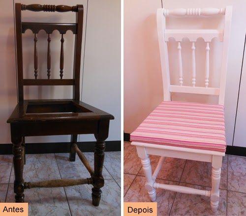 Aprenda como restaurar e customizar cadeiras de madeira. Reaproveite móveis usados é tendência, você economiza com a customização e renova a decoração